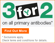 Purchase 3 primary antibodies in a single order and receive the least expensive item free of charge.