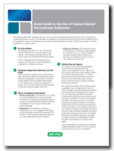 Quick Guide to the Use of Custom HuCAL® Recombinant Antibodies