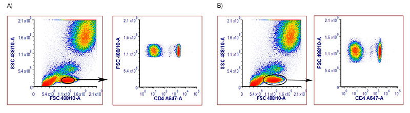 Fig.3. Human Peripheral Blood Stained with MCA1267A647