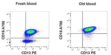 Effect of time on blood sample
